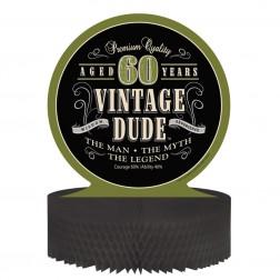 Tischdeko 60. Geburtstag Vintage Dude