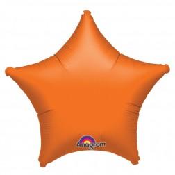 Stern Folienballon Orange 48cm