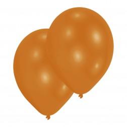 Luftballons Metallic Orange 10 Stück
