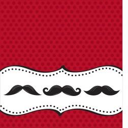 Tischdecke Mustache 137 x 274cm