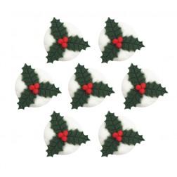 Zuckerdekor Weihnachtsbeeren 7 Stück
