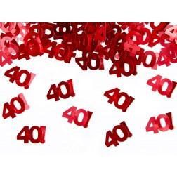 Konfetti 40 Rot