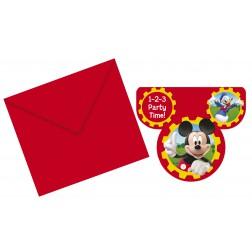 Mickey Mouse Club House Einladungskarten 6Stück