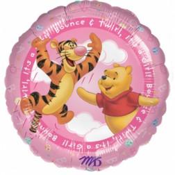 Folien Ballon Winnie Puuh Rosa 45cm