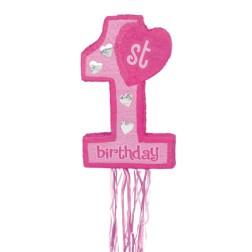 Pinata 1. Geburtstag rosa
