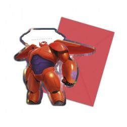 Big Hero 6 Einladungskarten 6 Stück