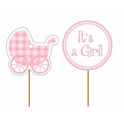 Toppers Picks  Its a Girl! 12 Stück