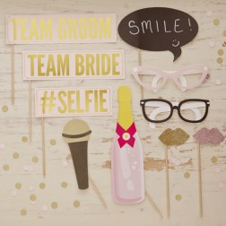 Photo Booth Set Wedding Perfection 10 Props