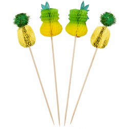 Tropical Ananas Picks 12 Stück
