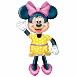 Minnie Mouse Girl Air Walkers Folienballon pink 132cm