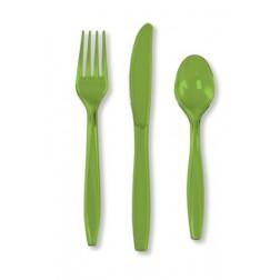 Plastikbesteck Lime Grün 24Teilig