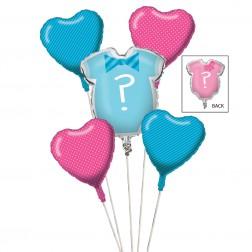 Folienballons Set Little Man or Little Miss 5 teilig