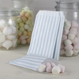 Blau Weiß gestreift Tüten 25 Stück