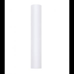 Tischläufer aus Tüll weiß 30cm x 9m