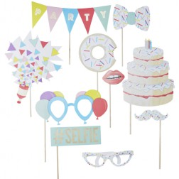 Photo Booths Set Pick and Mix Party 10 Props
