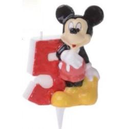 Zahlenkerze Mickey 5