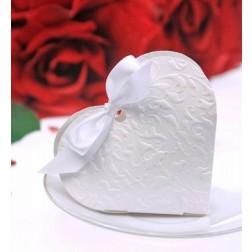 Geschenkbox Herz weiß 10 Stück