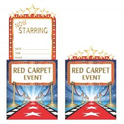 Einladungskarten Hollywood 8 Stück