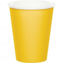 Pappbecher Gelb 8 Stück