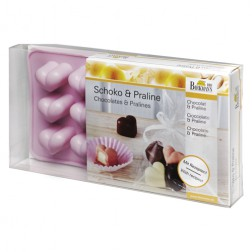 Silikon Schokoladenform Herz mit Rezepten