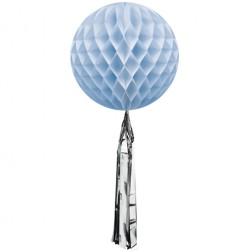 Wabenball mit Quaste Blau 35cm