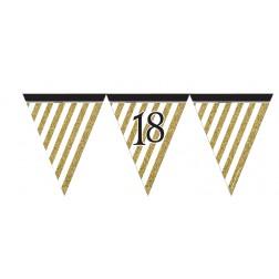 Flaggen Banner Black Gold 18. Geburtstag 3,7m