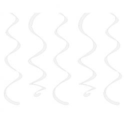 Spiralgirlanden weiß 10 Stück