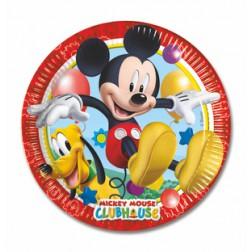 Playful Mickey Pappteller 8 Stück