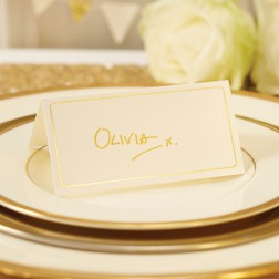 Tischkarten Yvory Gold 10 Stück