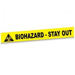 Absperrband Bioharard biologische Gefahr 15m