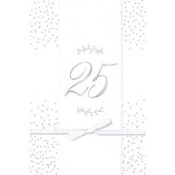 Karte 25 Silber mit Kuvert