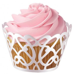 Cupcake Wrappers weiß 18 Stück