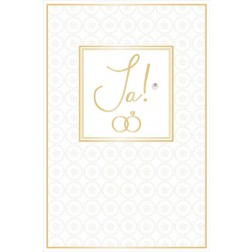 Karte Hochzeit Ringe Ja!