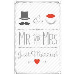 Karte Mr and Mrs Just Married