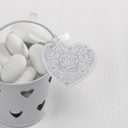 Heart Tags weiß 10 Stück