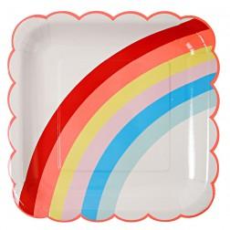 Rainbow große Pappteller 12 Stück