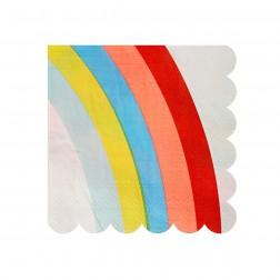 Rainbow kleine Servietten 20 Stück