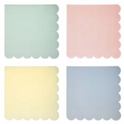Pastel Servietten 4 Colors 20 Stück