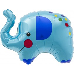 Folienballon Elefant blau 91cm
