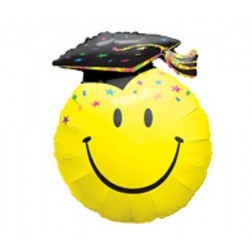 Graduation Smiley Face Folien Balloon 91cm