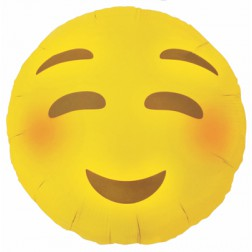 Folienballon Emoji Blushing 46cm