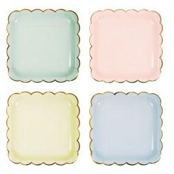 Pappteller Pastel Colors 8 Stück