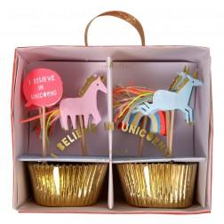 Einhorn Cupcake Set 48 Stück