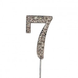 Diamante Zahl Silberstab 7
