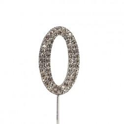 Diamante Zahl Silberstab 0