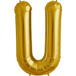 Folienballon Buchstabe U gold 86cm