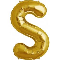 Folienballon Buchstabe S gold 86cm