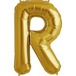Folienballon Buchstabe R gold 86cm