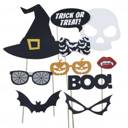 Photo Booth Props Trick Or Treat 10 Stück