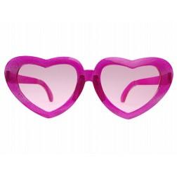 Brille Mega Herz rosa